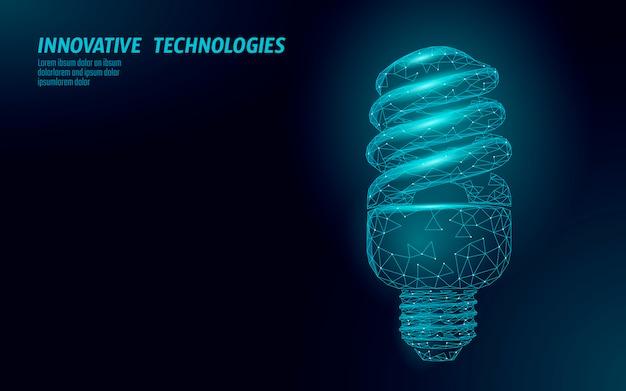 Lámpara fluorescente compacta de bajo consumo.