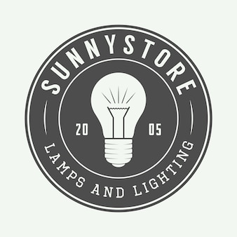Lampara y logo de iluminacion