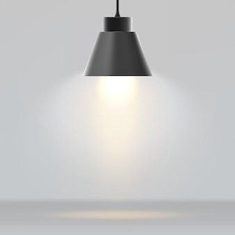 Lámpara moderna realista
