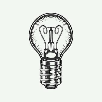 Lámpara moderna retro vintage se puede utilizar para el emblema y el logotipo de la insignia de la etiqueta ilustración vectorial