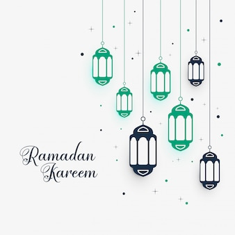 Lámparas colgantes de decoración para ramadan kareem.