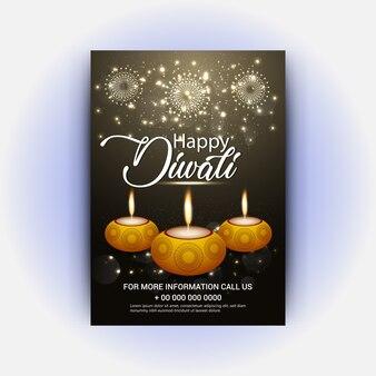 Lámparas de diya para el festival de diwali con el fondo y el aviador