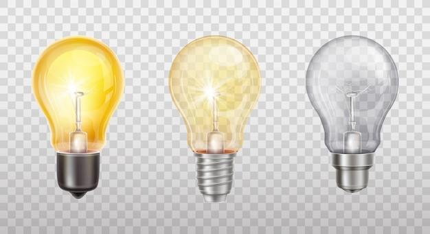 Lámparas incandescentes, bombillas eléctricas.