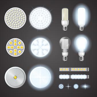 Lámparas led y efectos de luces fijados