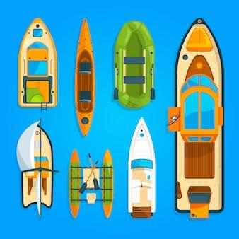 Lanchas rápidas, barcos, yates y otros transportes marítimos.