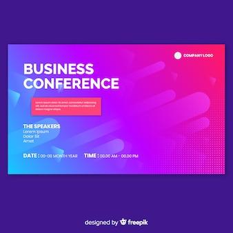 Landing page abstracta conferencia de negocios
