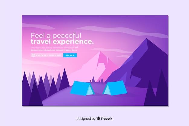 Landing page abstracta de viaje