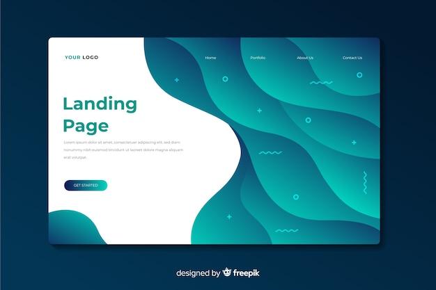 Landing page abstracta