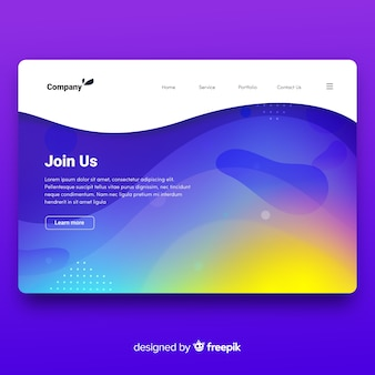 Landing page abstracto