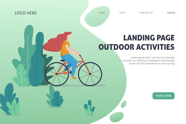 Landing page de actividade al aire libre