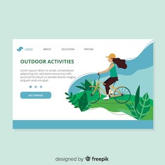 Landing page de actividades al aire libre