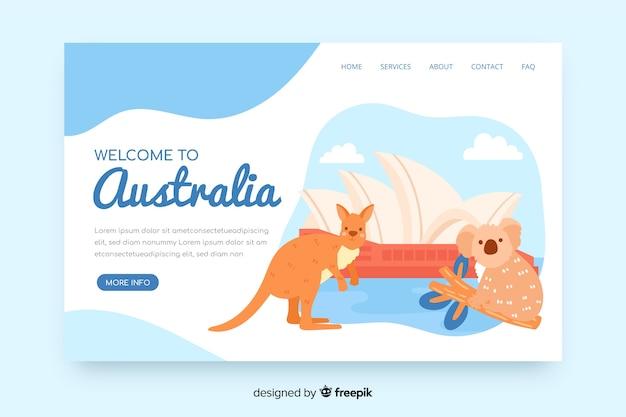 Landing page de bienvenida a australia
