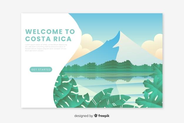 Landing page de bienvenida a costa rica