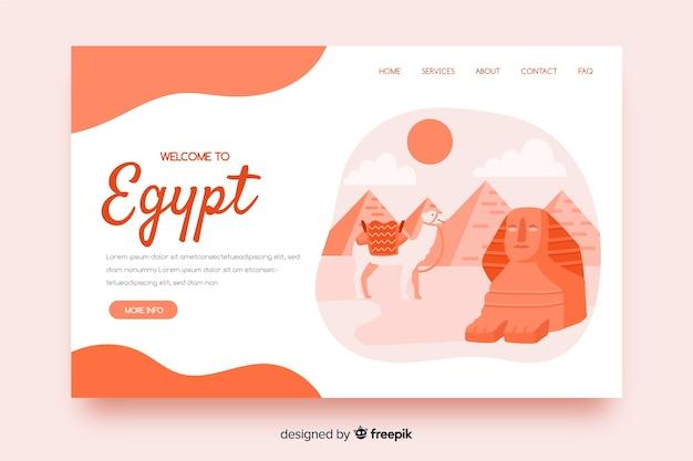 Landing page de bienvenida a egipto