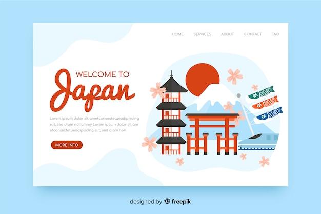 Landing page de bienvenida a japón