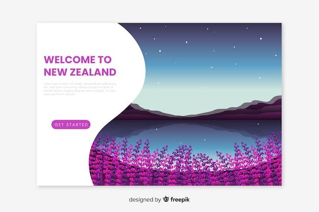 Landing page de bienvenida a nueva zelanda