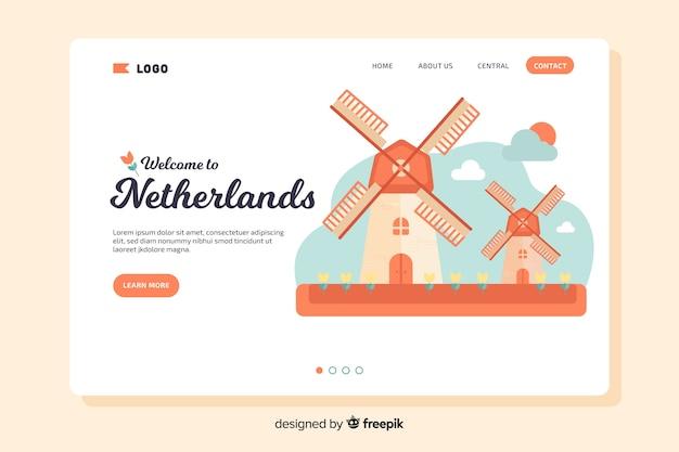Landing page de bienvenida a países bajos