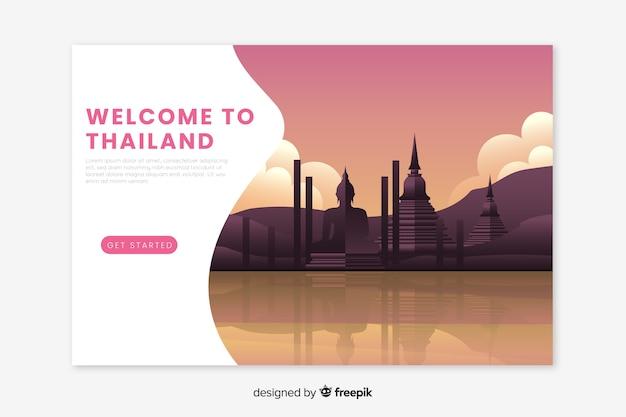 Landing page de bienvenida a tailandia