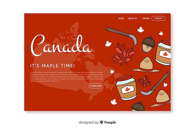 Landing page de bienvenido a canada