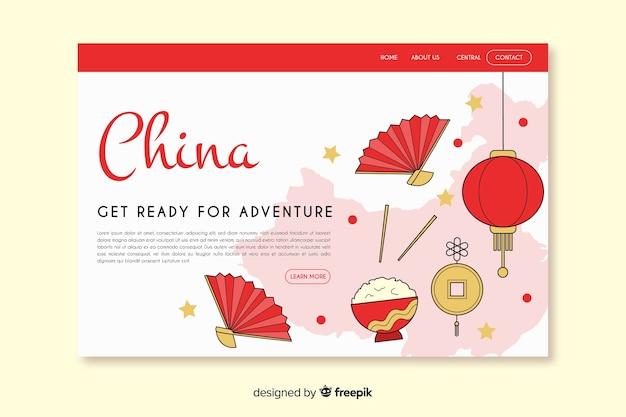 Landing page de bienvenido a china