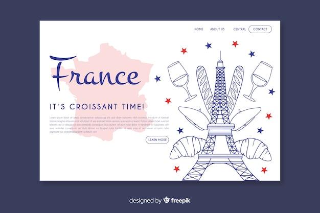 Landing page de bienvenido a francia