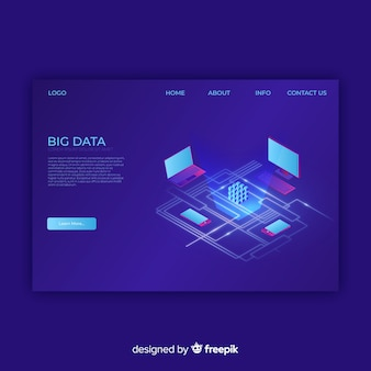Landing page de big data