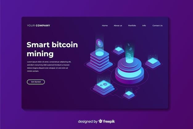Landing page de bitcoins
