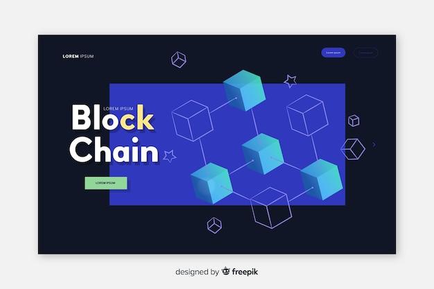 Landing page de blockchain