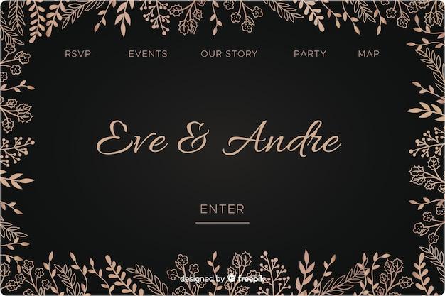 Landing page de boda elegante