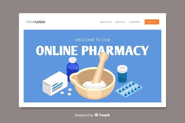 Landing page colorida farmacia