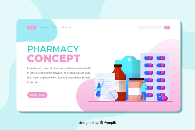 Landing page colorida farmacia