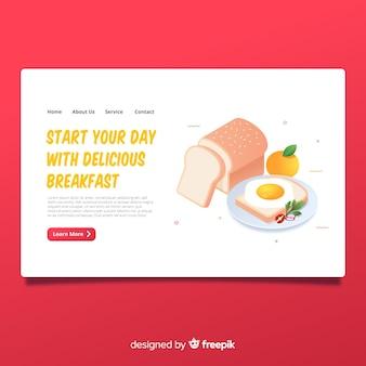 Landing page de comida
