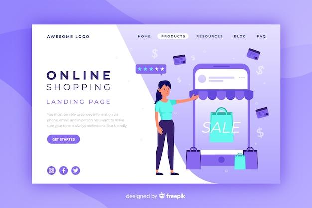 Landing page de compras online