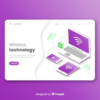 Landing page de conexión inalámbrica