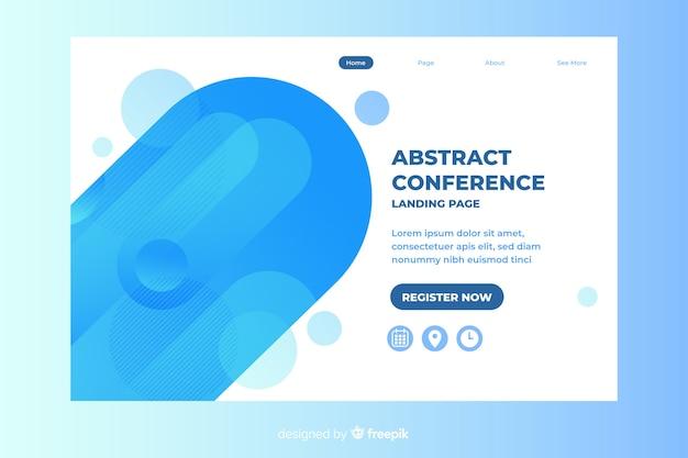 Landing page de conferencias