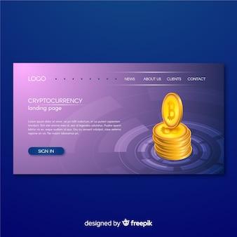 Landing page de criptomoneda