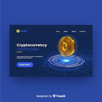 Landing page de criptomonedas