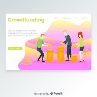 Landing page de crowfunding