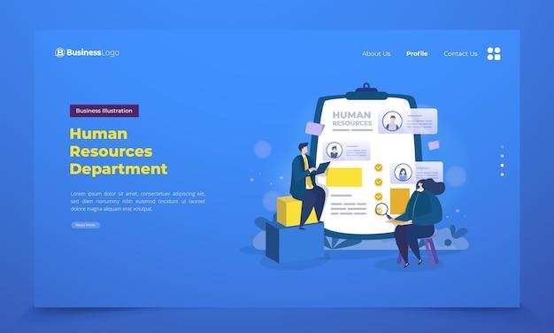 Landing page con departamento de recursos humanos