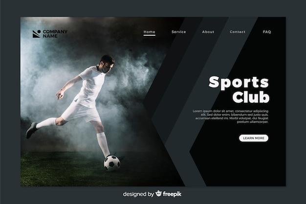 Landing page de deporte con foto
