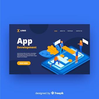 Landing page de desarrollo de aplicaciones