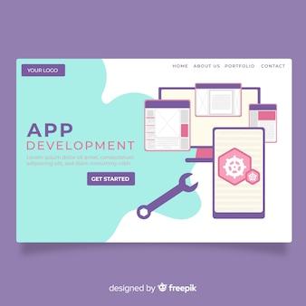 Landing page de desarrollo de app