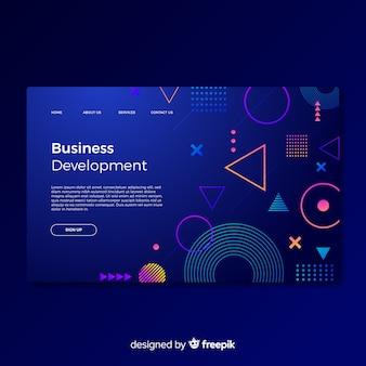 Landing page de desarrollo de negocios