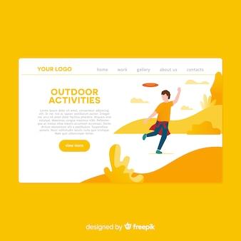 Landing page dibujada a mano actividades al aire libre