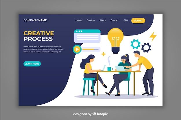 Landing page dibujada a mano proceso creativo