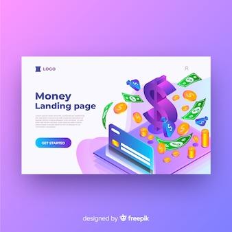 Landing page de dinero