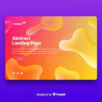 Landing page con efecto líquido