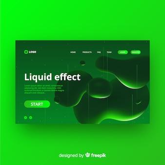 Landing page de efecto líquido