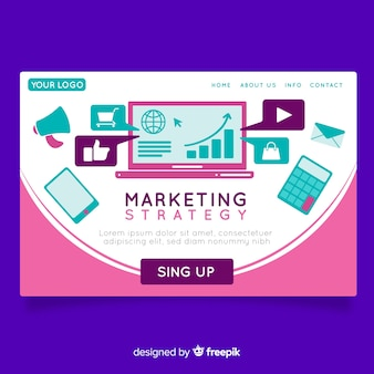 Landing page de estrategia de marketing