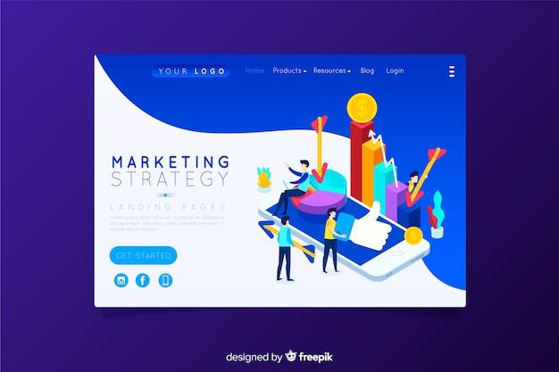 Landing page de estrategia de marketing